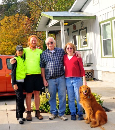Us with Rick and Cindy outside their home in Mountain Valley, VA