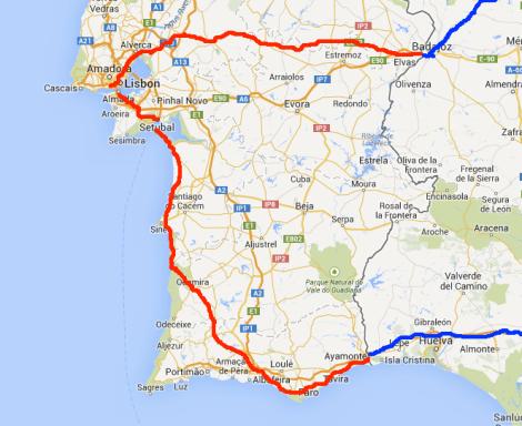 Portugal Free Life By Bike - Portugal map coast