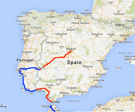 Big Map Of Spain.Spain Free Life By Bike